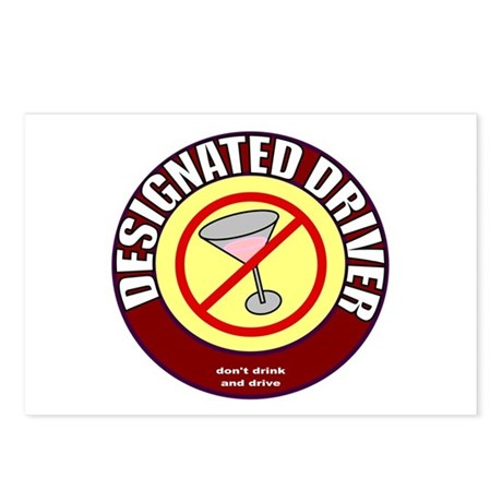 Designated Driver t-shirt Postcards (Package of 8)