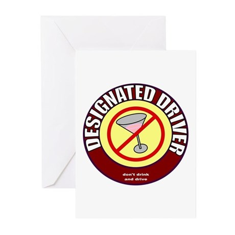 Designated Driver t-shirt Greeting Cards (Package