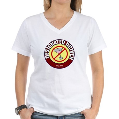 Designated Driver t-shirt Women's V-Neck T-Shirt