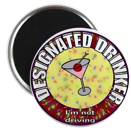 "Designated Drinker t-shirt 2.25"" Magnet (10 pack)"