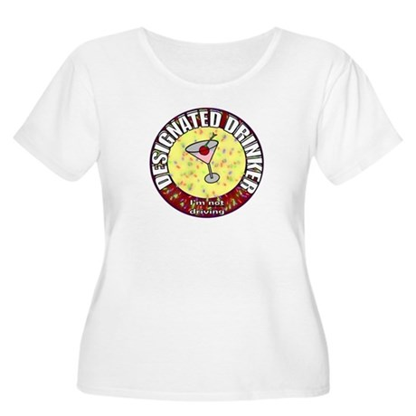 Designated Drinker t-shirt Women's Plus Size Scoop