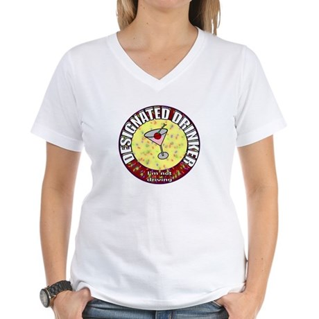 Designated Drinker t-shirt Women's V-Neck T-Shirt
