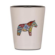 Right Facing Dala horse Shot Glass