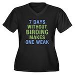 Without Bird Women's Plus Size V-Neck Dark T-Shirt