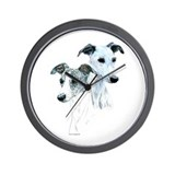 Whippet Pair Wall Clock