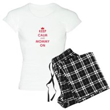 Keep Calm and Mommy On red Pajamas