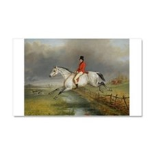 Clearing the Fence on the Hunt Car Magnet 20 x 12
