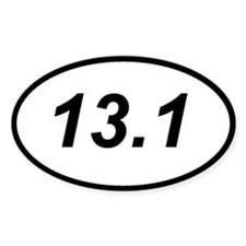 13.1 half marathon running sticker (oval)