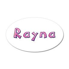 Rayna Pink Giraffe 35x21 Oval Wall Decal