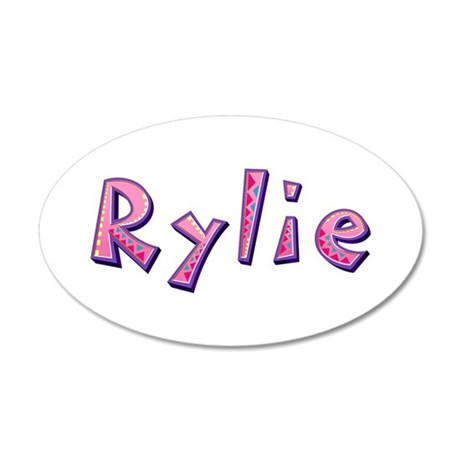 Rylie Pink Giraffe 35x21 Oval Wall Decal