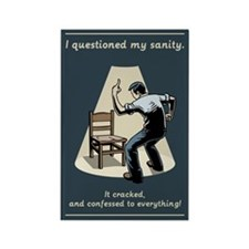 Questioned My Sanity Rectangle Magnet (10 pack)