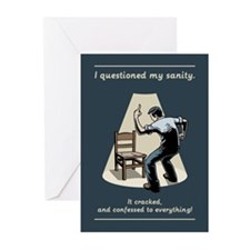 Questioned My Sanity Greeting Cards (Pk of 10)