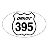 Drivin' 395 Oval Decal