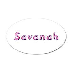 Savanah Pink Giraffe 20x12 Oval Wall Decal