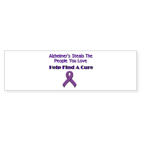 alzheimer's steals Bumper Sticker