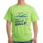 Gulls! Gulls! Gulls! Green T-Shirt