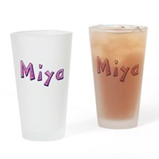 Miya Pink Giraffe Drinking Glass