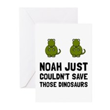 Noah Dinosaurs Greeting Cards