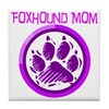 Foxhound Mom Tile Coaster