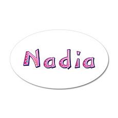 Nadia Pink Giraffe 35x21 Oval Wall Decal