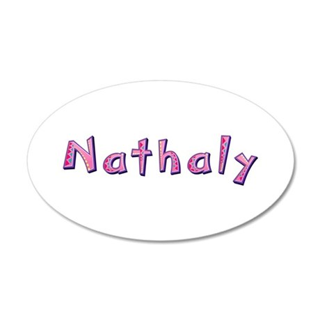Nathaly Pink Giraffe 20x12 Oval Wall Decal