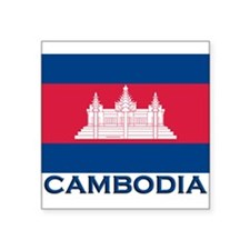 Cambodia Flag Merchandise Rectangle Sticker