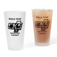 Build team logo Drinking Glass