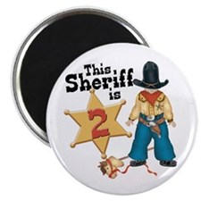 "Sheriff 2nd Birthday 2.25"" Magnet (100 pack)"