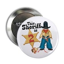 "Sheriff 2nd Birthday 2.25"" Button (100 pack)"