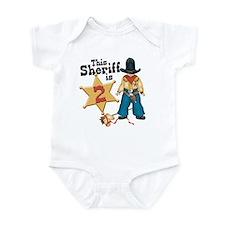 Sheriff 2nd Birthday Infant Bodysuit