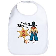 Sheriff 2nd Birthday Bib