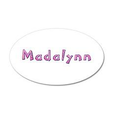 Madalynn Pink Giraffe 20x12 Oval Wall Decal