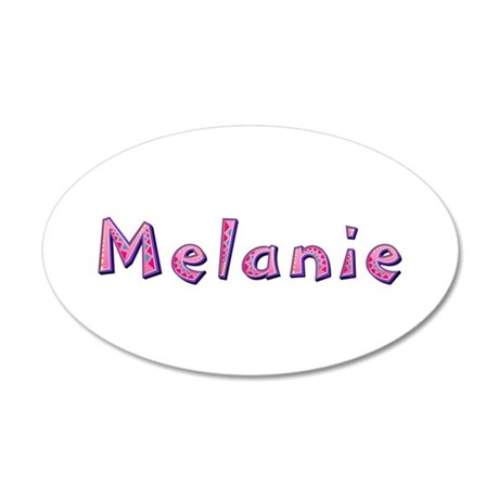 Melanie Pink Giraffe 35x21 Oval Wall Decal