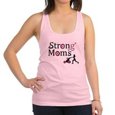 Strong Moms - Pink Racerback Tank Top