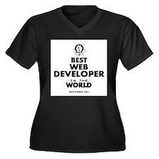 Best Web Developer in the World Plus Size T-Shirt