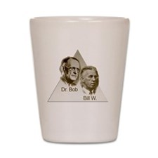 Doctor Bob and Bill Wilson Shot Glass