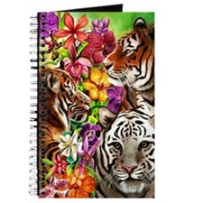 Tigers and Flowers, Beautiful Jungle Artwo Journal
