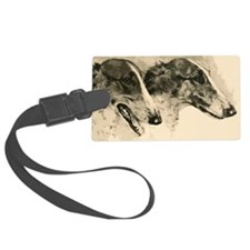 Borzoi Heads Luggage Tag