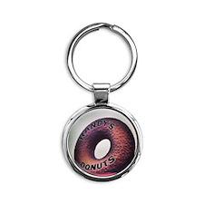 Donuts Make Me Go Nuts Round Keychain