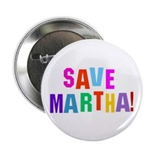 "Save Martha retro 2.25"" Button (10 pack)"