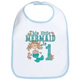 Mermaid First Birthday Bib