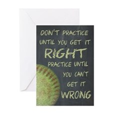 Practice Fastpitch Softball Motivati Greeting Card