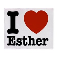 I love Esther Throw Blanket