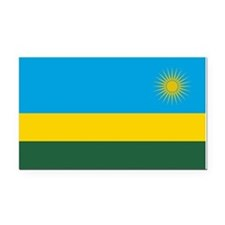 Rwanda Flag Rectangle Car Magnet