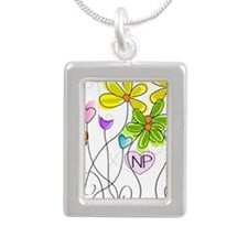 Nurse Practitioner Silver Portrait Necklace
