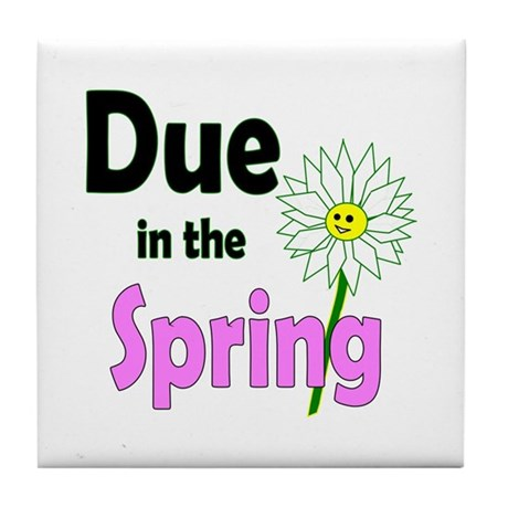 Due in Spring Tile Coaster