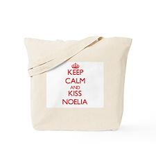 Keep Calm and Kiss Noelia Tote Bag