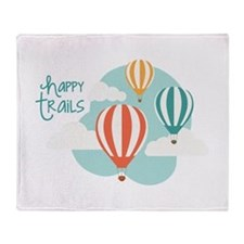 happy tRAILS Throw Blanket