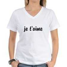 je t'aime I LOVE YOU in Fre Shirt