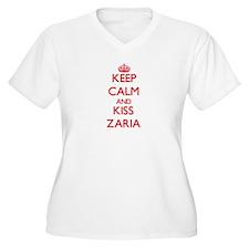 Keep Calm and Kiss Zaria Plus Size T-Shirt